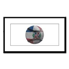 Dominican Republic Baseball Small Framed Print