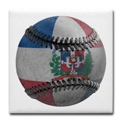 Dominican Republic Baseball Tile Coaster