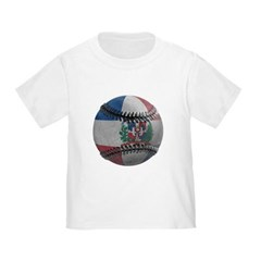 Dominican Republic Baseball Toddler T-Shirt