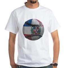 Dominican Republic Baseball White T-Shirt