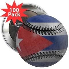 """Cuban Baseball 2.25"""" Button (100 pack)"""