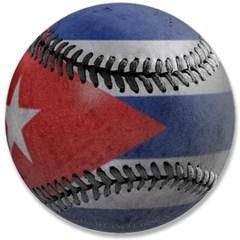 """Cuban Baseball 3.5"""" Button"""
