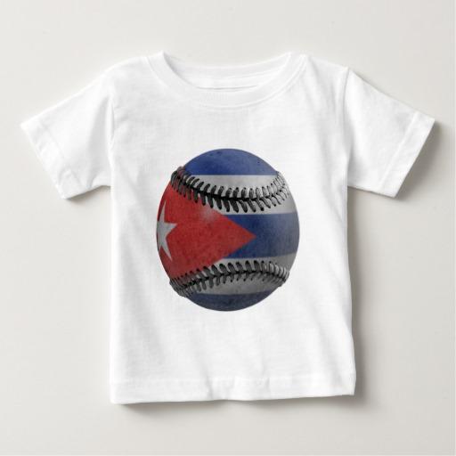 Cuban Baseball Baby Fine Jersey T-Shirt