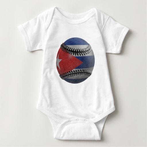 Cuban Baseball Baby Jersey Bodysuit
