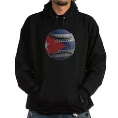 Cuban Baseball Dark Hooded Sweatshirt