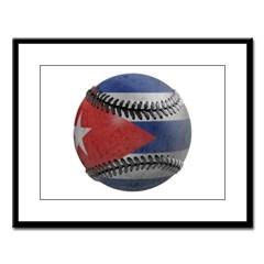 Cuban Baseball Large Framed Print