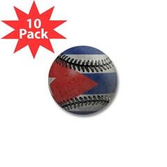 Cuban Baseball Mini Button (10 pack)