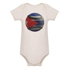 Cuban Baseball Organic Baby Bodysuit