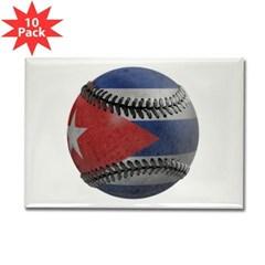 Cuban Baseball Rectangle Magnet (10 pack)