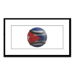 Cuban Baseball Small Framed Print