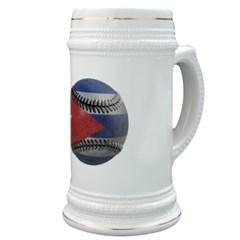 Cuban Baseball Stein