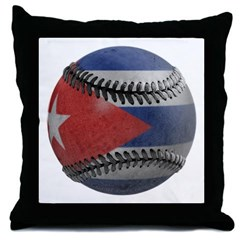Cuban Baseball Throw Pillow