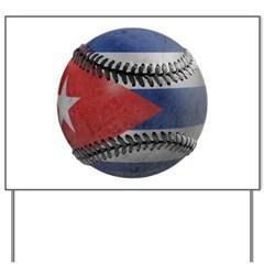Cuban Baseball Yard Sign