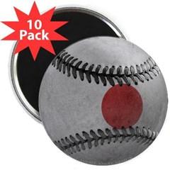 """Japanese Baseball 2.25"""" Magnet (10 pack)"""