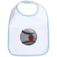 Japanese Baseball Baby Bib