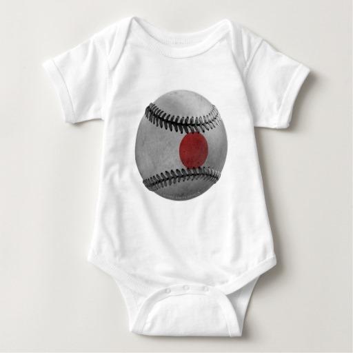 Japanese Baseball Baby Jersey Bodysuit
