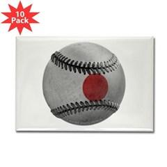 Japanese Baseball Rectangle Magnet (10 pack)