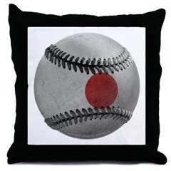 Japanese Baseball Throw Pillow