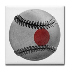 Japanese Baseball Tile Coaster