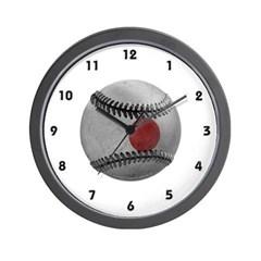 Japanese Baseball Wall Clock