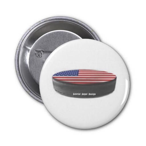 USA Hockey 2 Inch Round Button