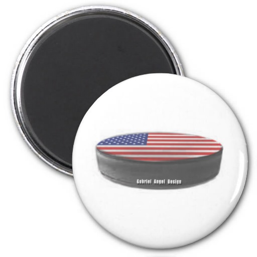 USA Hockey 2 Inch Round Magnet