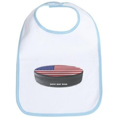 USA Hockey Baby Bib