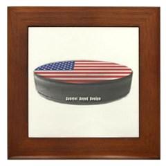 USA Hockey Framed Tile