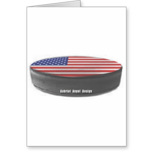 USA Hockey Greeting Card