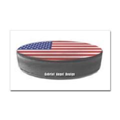 USA Hockey Rectangle Decal