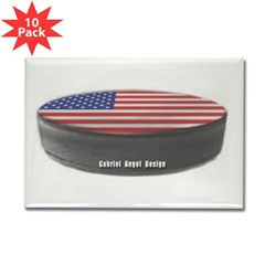 USA Hockey Rectangle Magnet (10 pack)