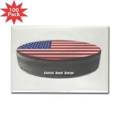 USA Hockey Rectangle Magnet (100 pack)