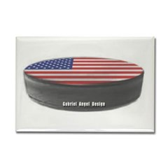 USA Hockey Rectangle Magnet
