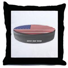 USA Hockey Throw Pillow