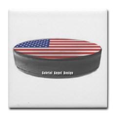 USA Hockey Tile Coaster