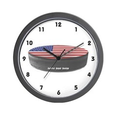 USA Hockey Wall Clock