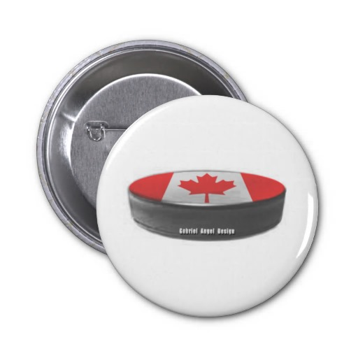 Canada Hockey 2 Inch Round Button