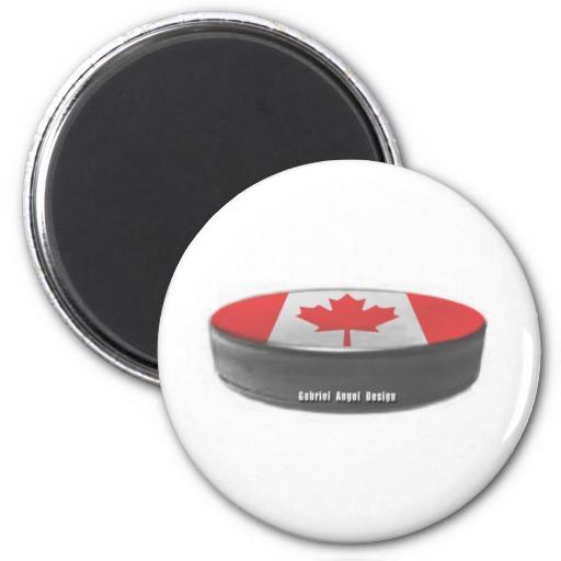 Canada Hockey 2 Inch Round Magnet