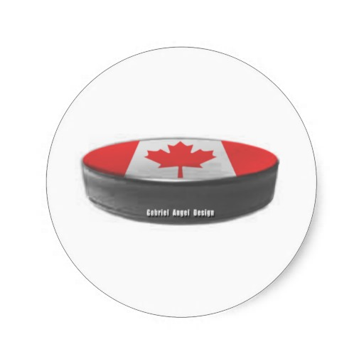 Canada Hockey Classic Round Sticker