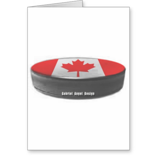 Canada Hockey Greeting Card