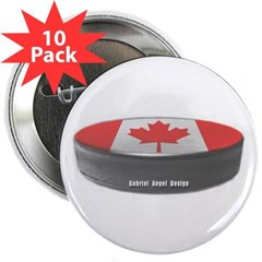"Canadian Hockey 2.25"" Button (10 pack)"