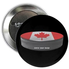 "Canadian Hockey 2.25"" Button"