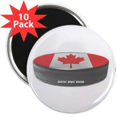 "Canadian Hockey 2.25"" Magnet (10 pack)"