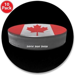 "Canadian Hockey 3.5"" Button (10 pack)"