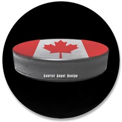 "Canadian Hockey 3.5"" Button"