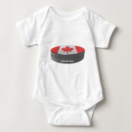 Canadian Hockey Baby Jersey Bodysuit