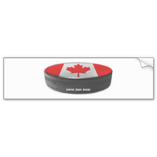 Canadian Hockey Bumper Sticker