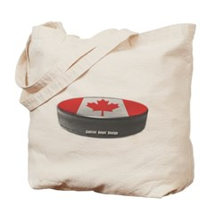 Canadian Hockey Canvas Tote Bag