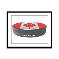 Canadian Hockey Framed Panel Print