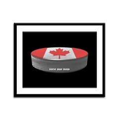 Canadian Hockey Framed Panel Print